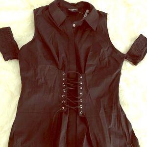 🖤🖤Bebe Lace Up Blouse size L